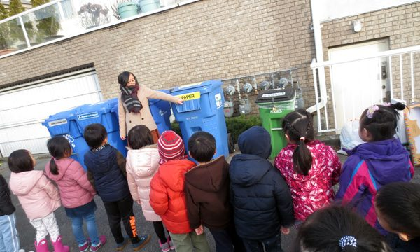 social studies learning - the theme of Let's reduce, reuse and recycle